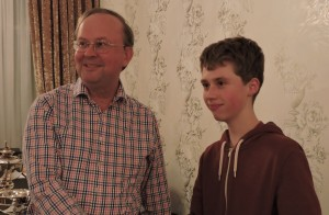 Oliver shared 1st Dorset Intermediate Chess 041216