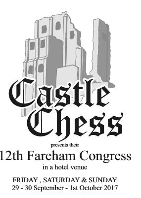Fareham Weekend Chess Congress – 29 Sept to 1 Oct (pl click)
