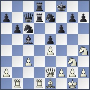 Position after white move 21 Waddington V Peirson