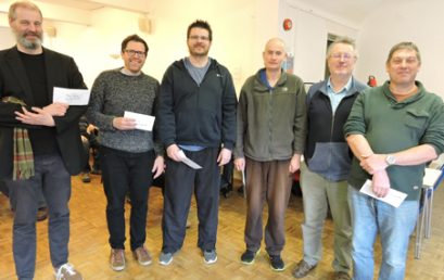 Dorset Rapidplay 24 March at Greyfriars, Ringwood: 63 take part and 6 share 1st place with 5/6