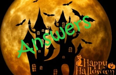 Halloween Quiz Special: Answers